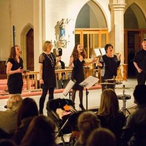 Lunar Ensemble singing Oceans
